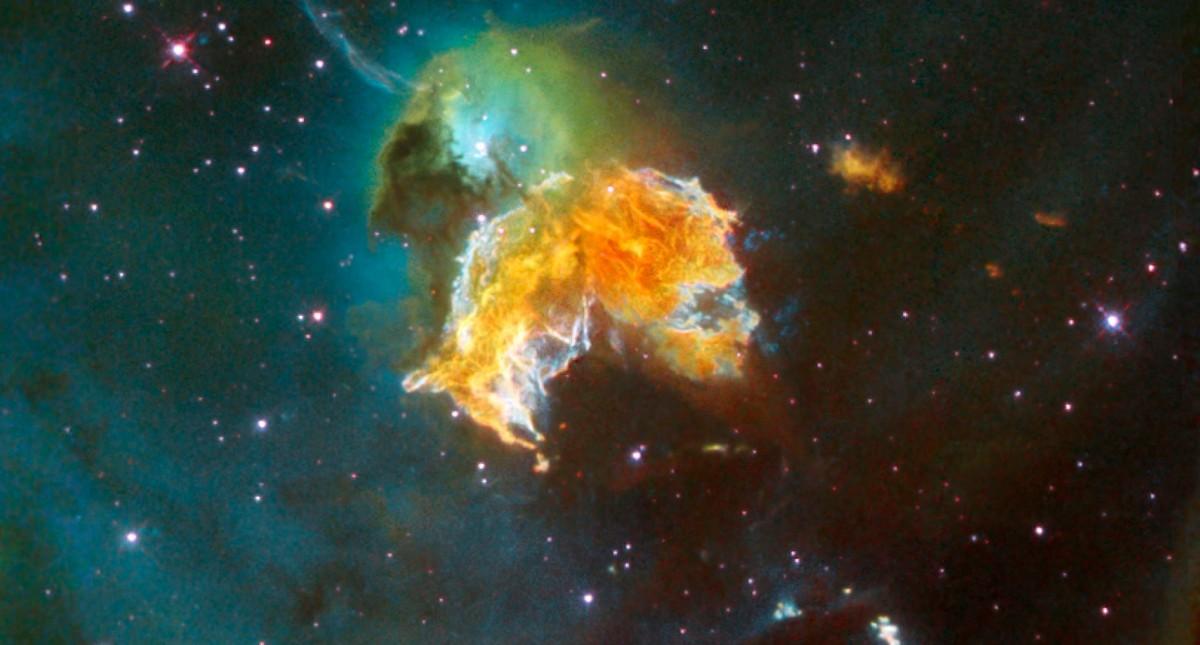 Una supernova a forma di Pac-Man nell …