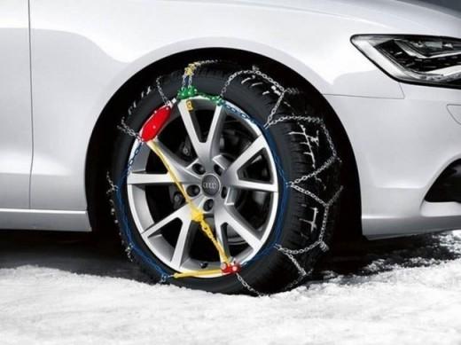Catene da Neve 7mm per Auto non Catenabile Misura pneumatici 215//50R18 215//50-18