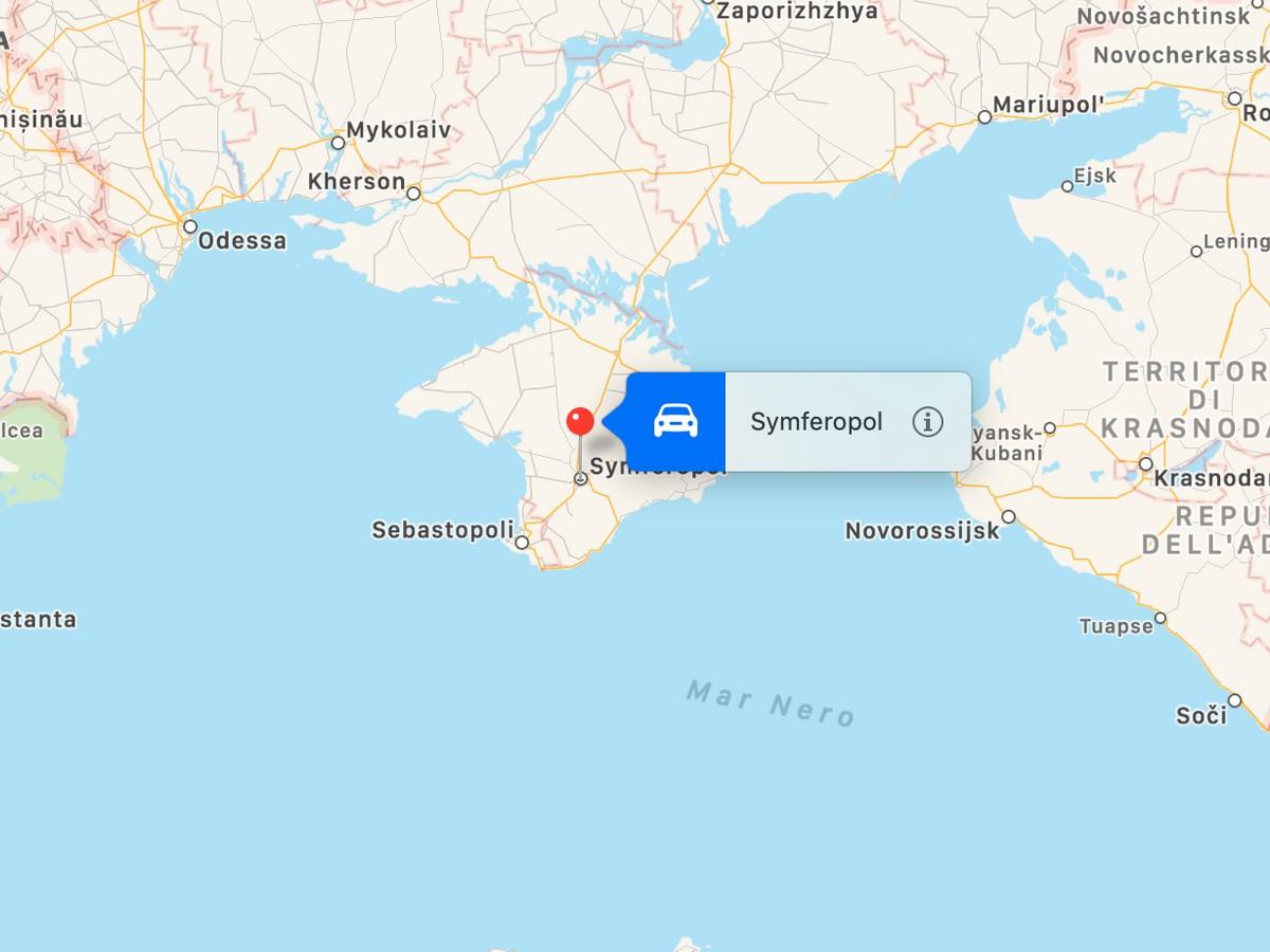 Russia Oggi Cartina.Apple E Google Accontentano La Russia Modificata La Mappa Della Crimea Hdblog It