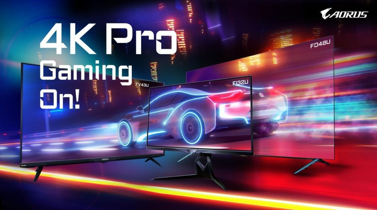 Gigabyte Auros, tris di monitor 4K Pro G …